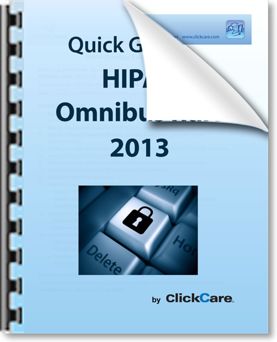 ClickCare Quick Guide to the Omnibus Rule Overview